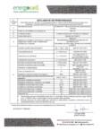 Declaratie de performanta pentru sticla celulara termocelulara ENERGOCELL - Energocell®