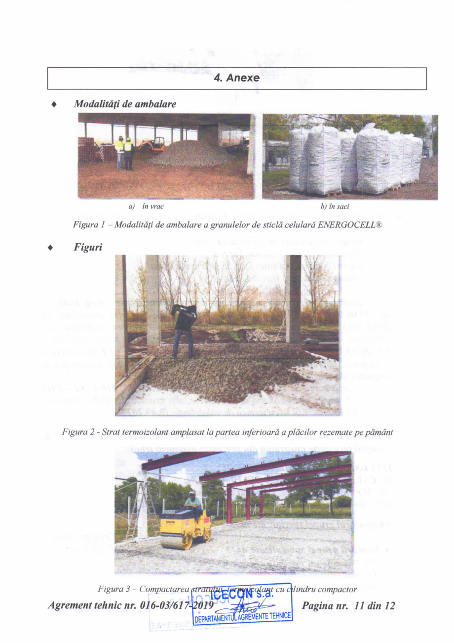 Pagina 12 - Aviz tehnic si agrement tehnic pentru sticla celulara termoizolanta ENERGOCELL...