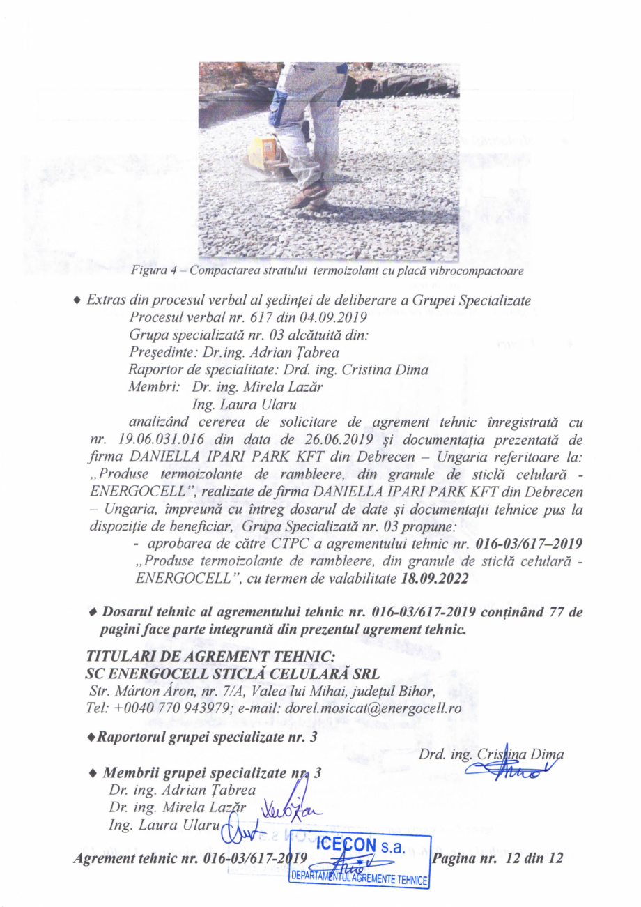 Pagina 13 - Aviz tehnic si agrement tehnic pentru sticla celulara termoizolanta ENERGOCELL...