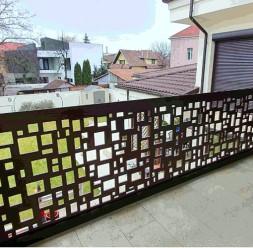 Balustrade decorative din HPL pentru scari si trepte de exterior Paravane Decorative