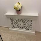 Masca de calorifer-distribuitor tevi cu picior cu soclu evazat modern - Model Floare Marocana - Masti