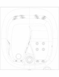 Cada de baie cu hidromasaj vazuta de sus - 2D
