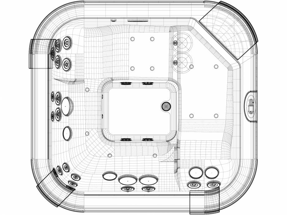 Pagina 1 - CAD-DWG Cada cu hidromasaj Santorini Pro JACUZZI Detaliu de produs