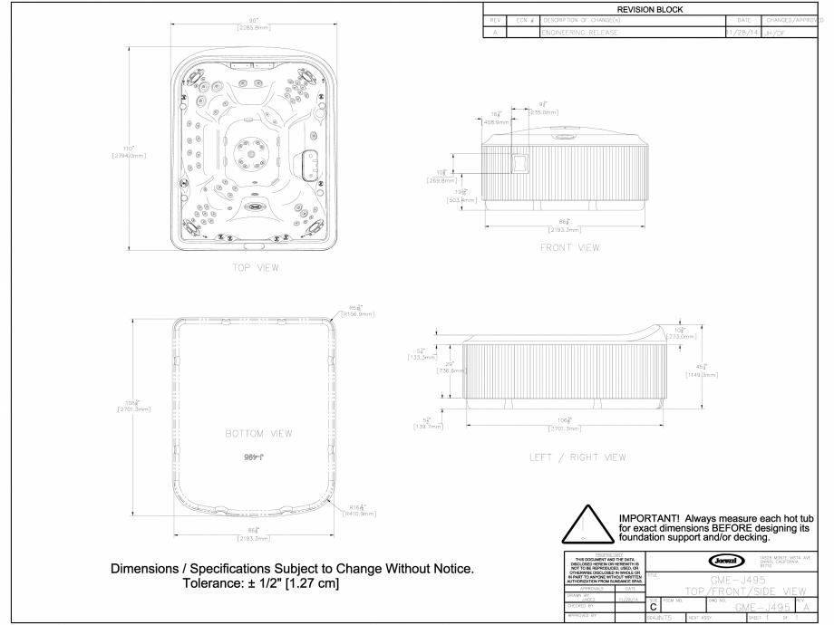 Pagina 1 - CAD-DWG Cada cu hidromasaj tip jacuzzi JACUZZI Detaliu de produs J-495™