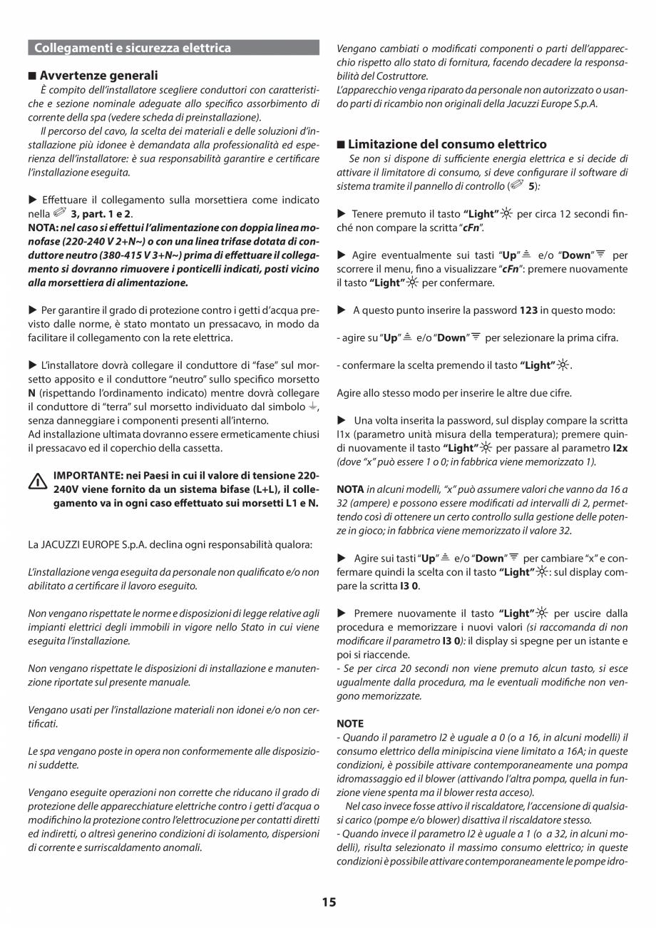 Pagina 14 - Manual de instalare pentru cada de baie cu hidromasaj JACUZZI SANTORINI PRO, SANTORINI...