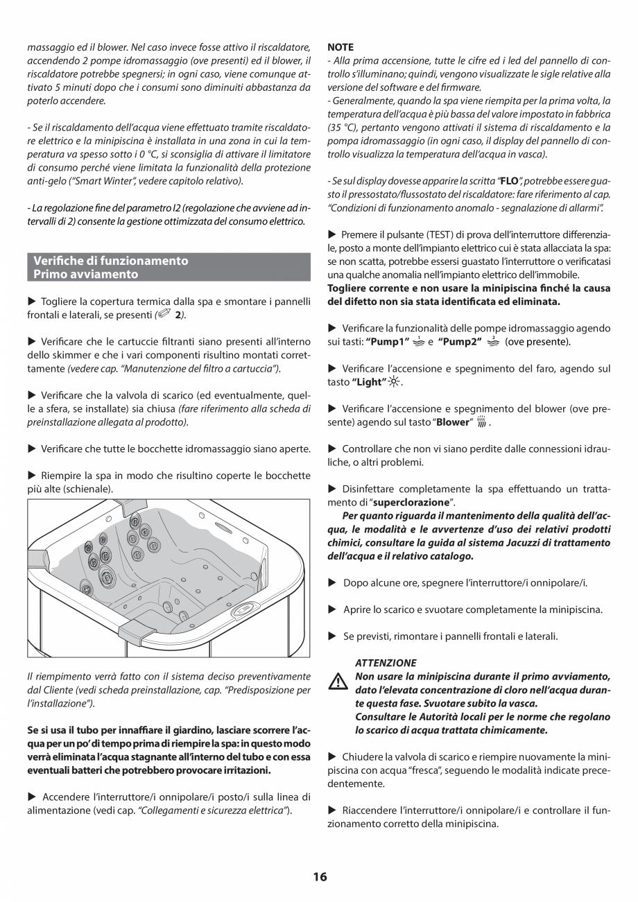 Pagina 15 - Manual de instalare pentru cada de baie cu hidromasaj JACUZZI SANTORINI PRO, SANTORINI...