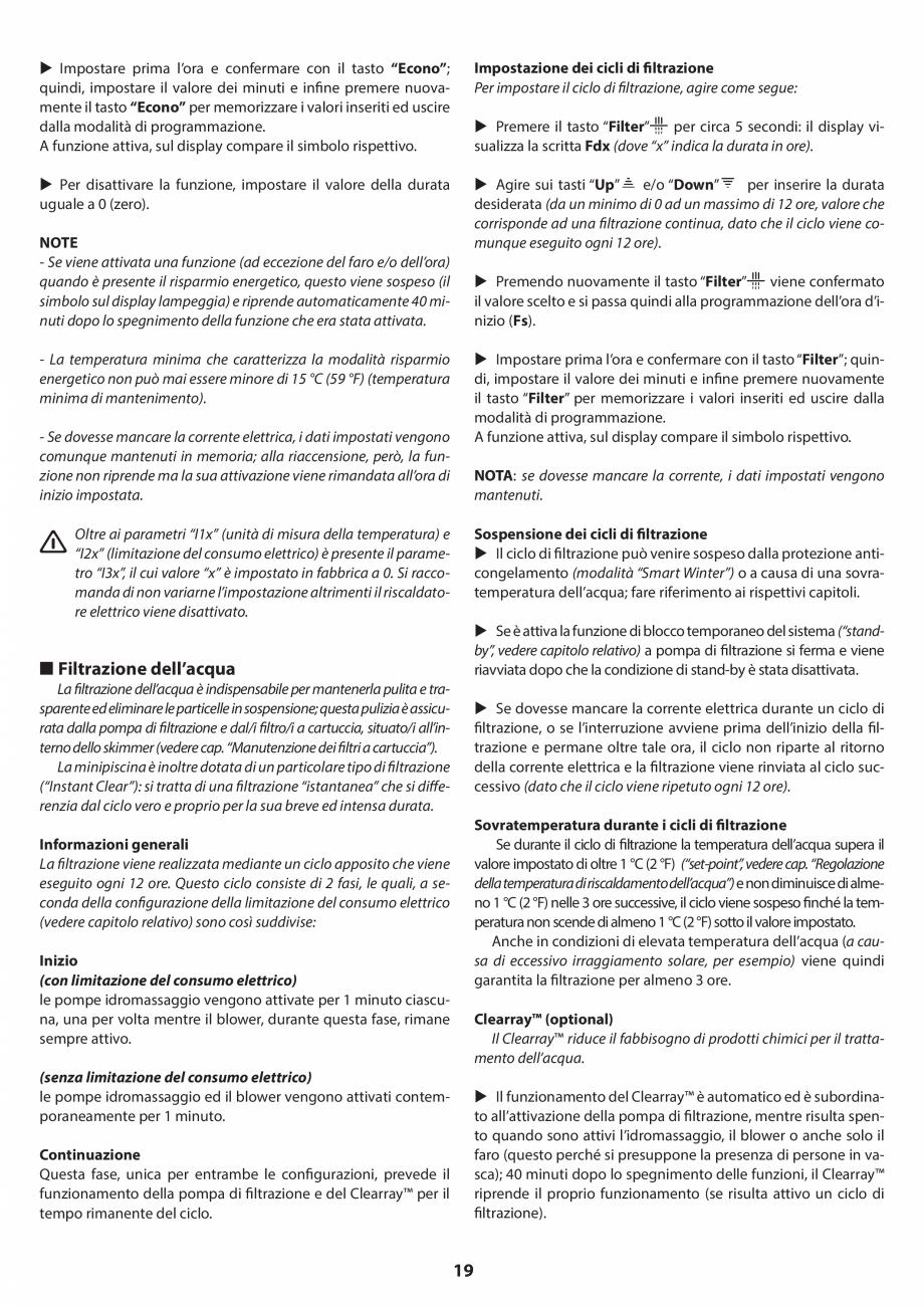 Pagina 18 - Manual de instalare pentru cada de baie cu hidromasaj JACUZZI SANTORINI PRO, SANTORINI...