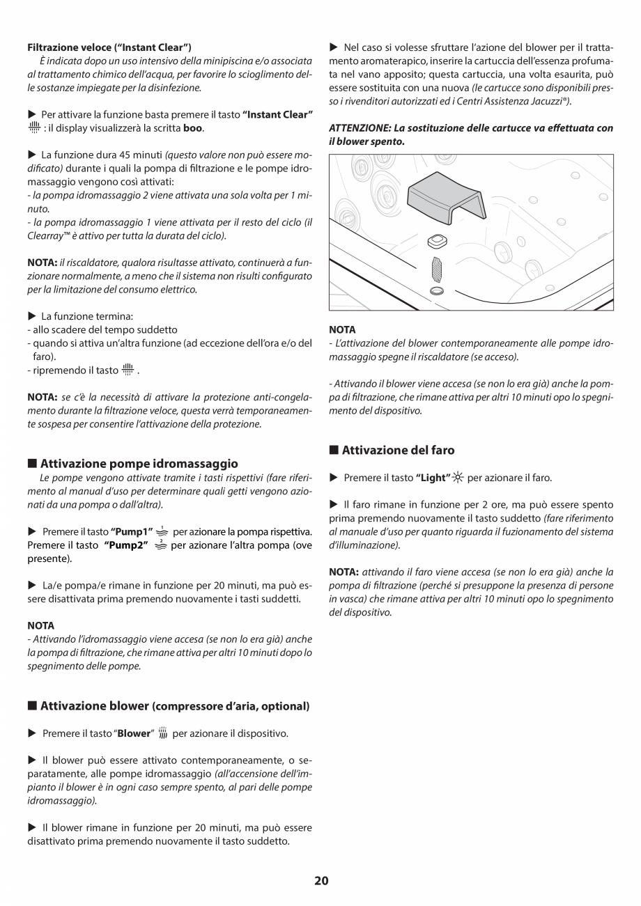 Pagina 19 - Manual de instalare pentru cada de baie cu hidromasaj JACUZZI SANTORINI PRO, SANTORINI...