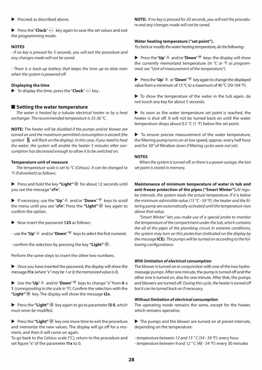 Pagina 27 - Manual de instalare pentru cada de baie cu hidromasaj JACUZZI SANTORINI PRO, SANTORINI...