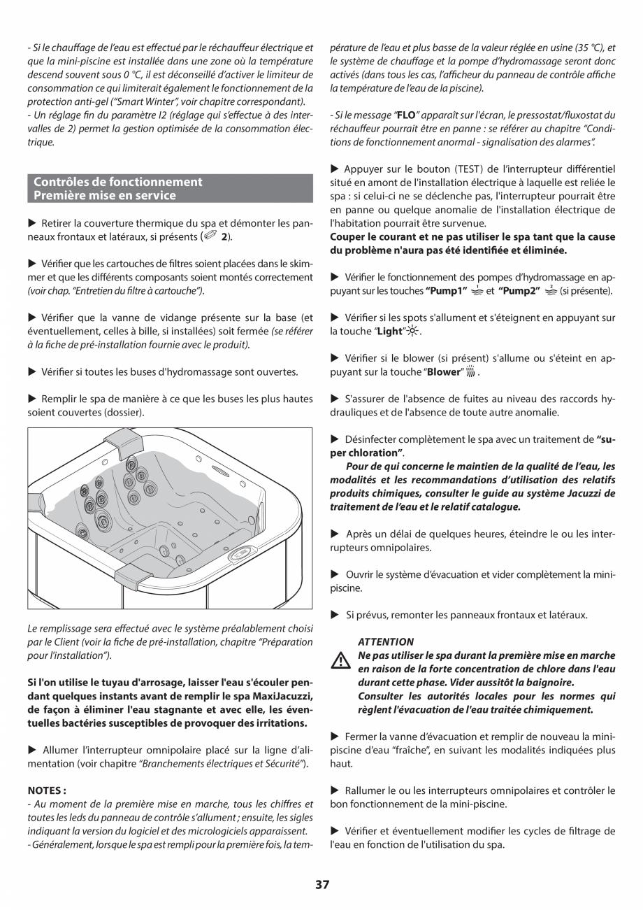 Pagina 36 - Manual de instalare pentru cada de baie cu hidromasaj JACUZZI SANTORINI PRO, SANTORINI...