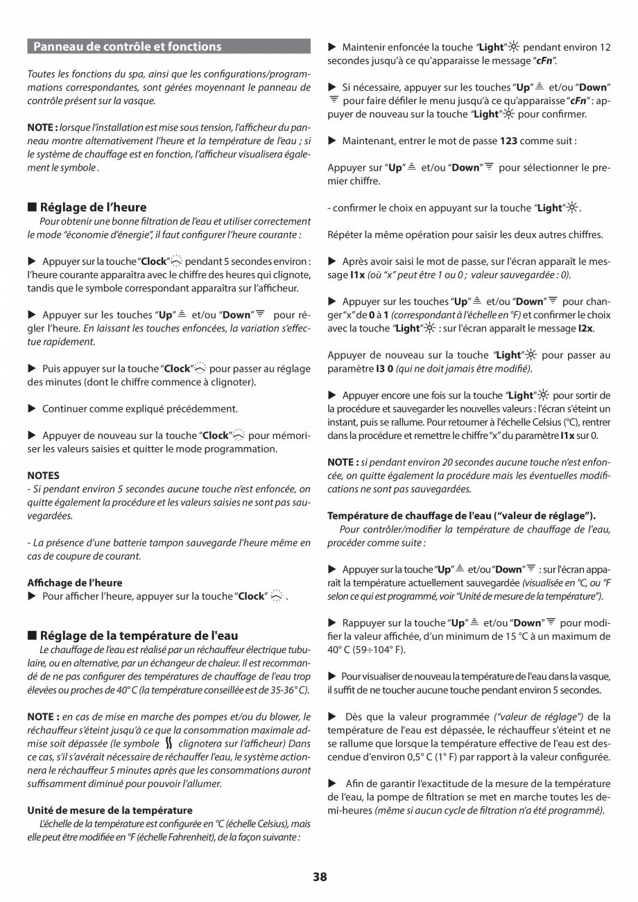 Pagina 37 - Manual de instalare pentru cada de baie cu hidromasaj JACUZZI SANTORINI PRO, SANTORINI...