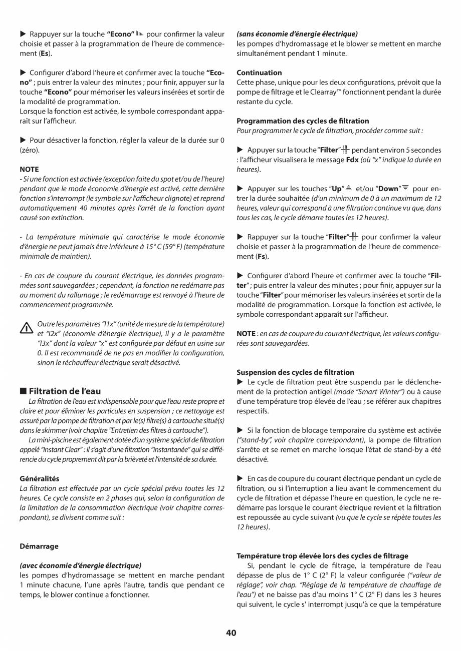 Pagina 39 - Manual de instalare pentru cada de baie cu hidromasaj JACUZZI SANTORINI PRO, SANTORINI...