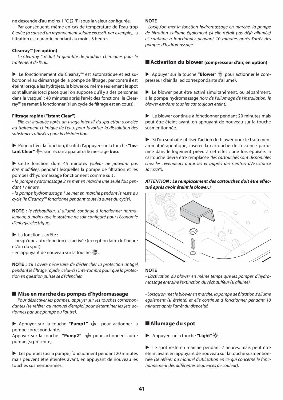 Pagina 41 - Manual de instalare pentru cada de baie cu hidromasaj JACUZZI SANTORINI PRO, SANTORINI...