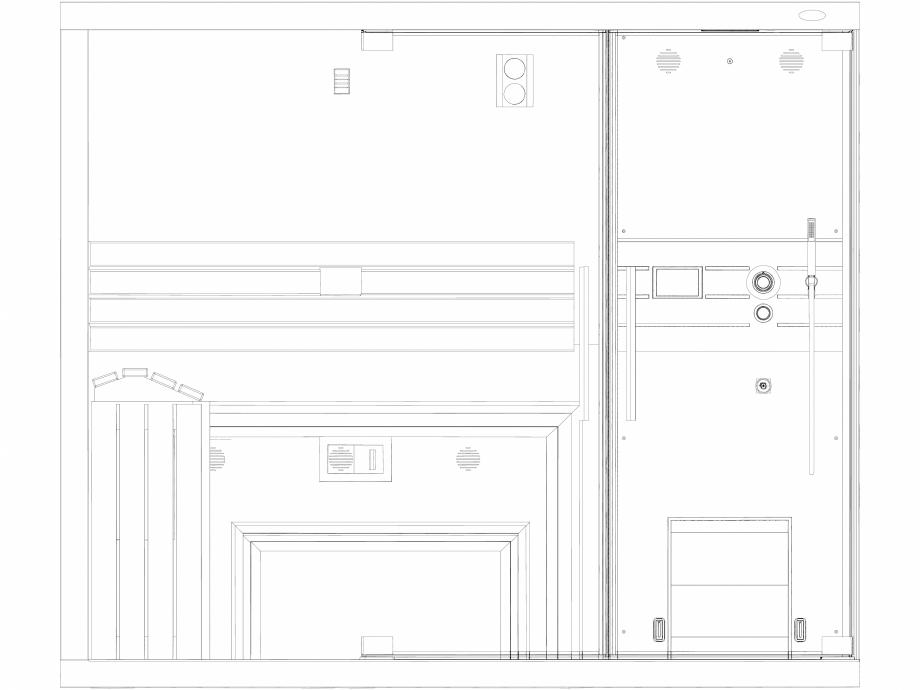 Pagina 1 - CAD-DXF Sauna Sasha MI vazuta din fata 2D JACUZZI Detaliu de produs