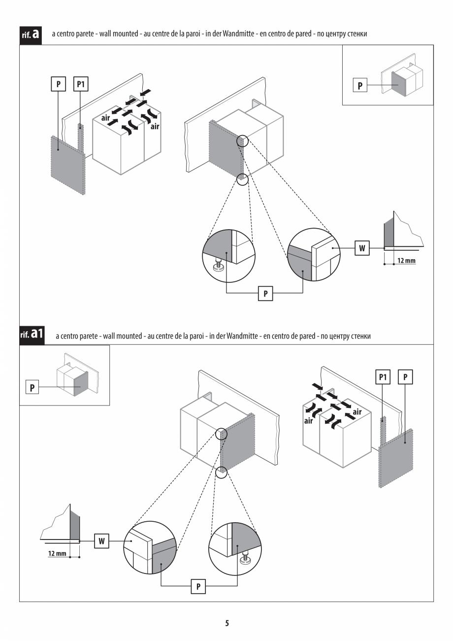 Pagina 5 - Instructiuni de preinstalare pentru hammam + dus JACUZZI SASHA, SASHA 2.0 Instructiuni...