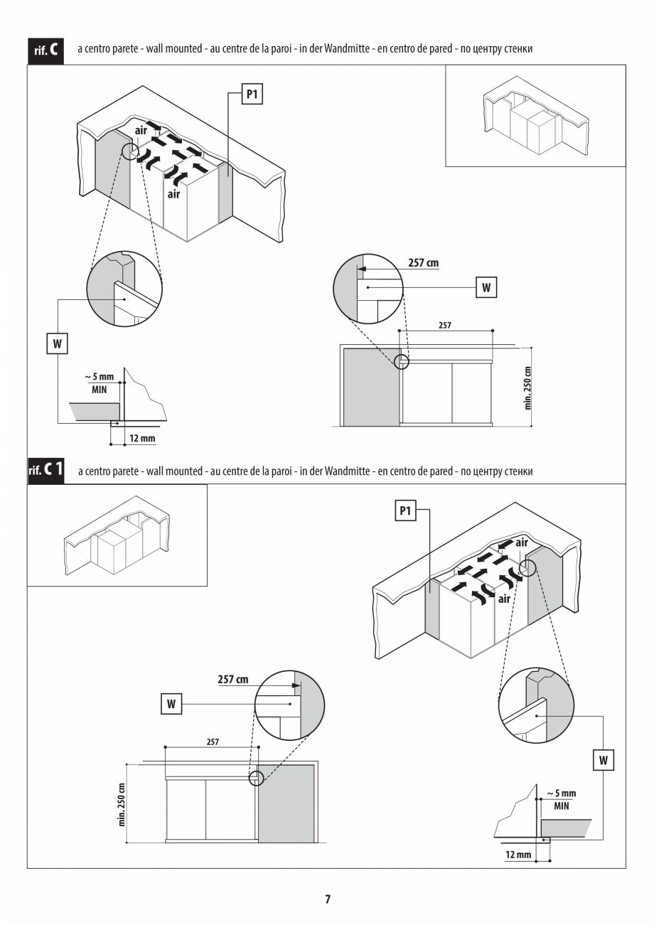 Pagina 7 - Instructiuni de preinstalare pentru hammam + dus JACUZZI SASHA, SASHA 2.0 Instructiuni...