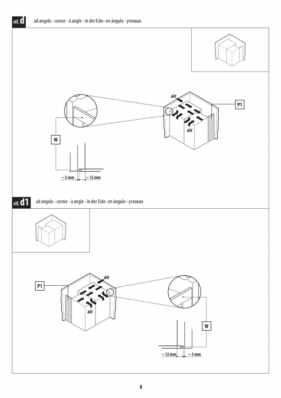 Pagina 8 - Instructiuni de preinstalare pentru hammam + dus JACUZZI SASHA, SASHA 2.0 Instructiuni...