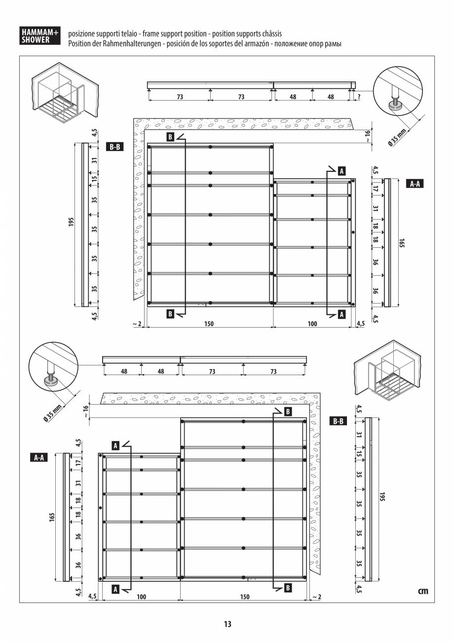 Pagina 13 - Instructiuni de preinstalare pentru hammam + dus JACUZZI SASHA, SASHA 2.0 Instructiuni...