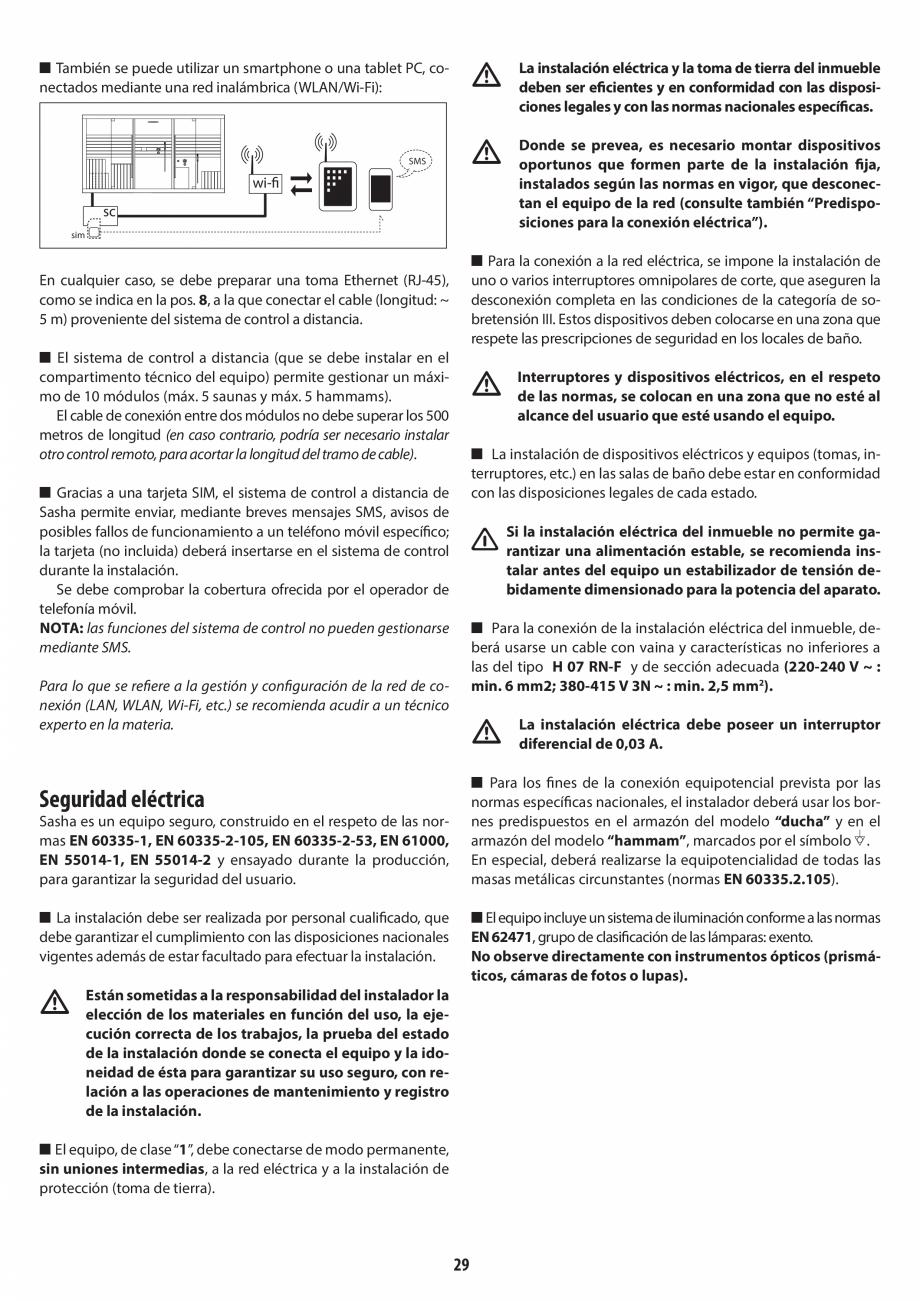 Pagina 29 - Instructiuni de preinstalare pentru hammam + dus JACUZZI SASHA, SASHA 2.0 Instructiuni...