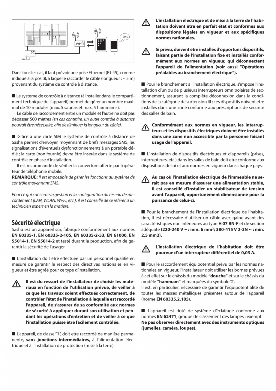 Pagina 23 - Instructiuni de preinstalare pentru sauna + dus JACUZZI SASHA, SASHA 2.0 Instructiuni...