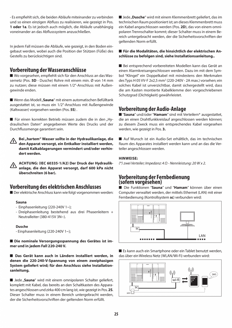 Pagina 25 - Instructiuni de preinstalare pentru sauna + dus JACUZZI SASHA, SASHA 2.0 Instructiuni...