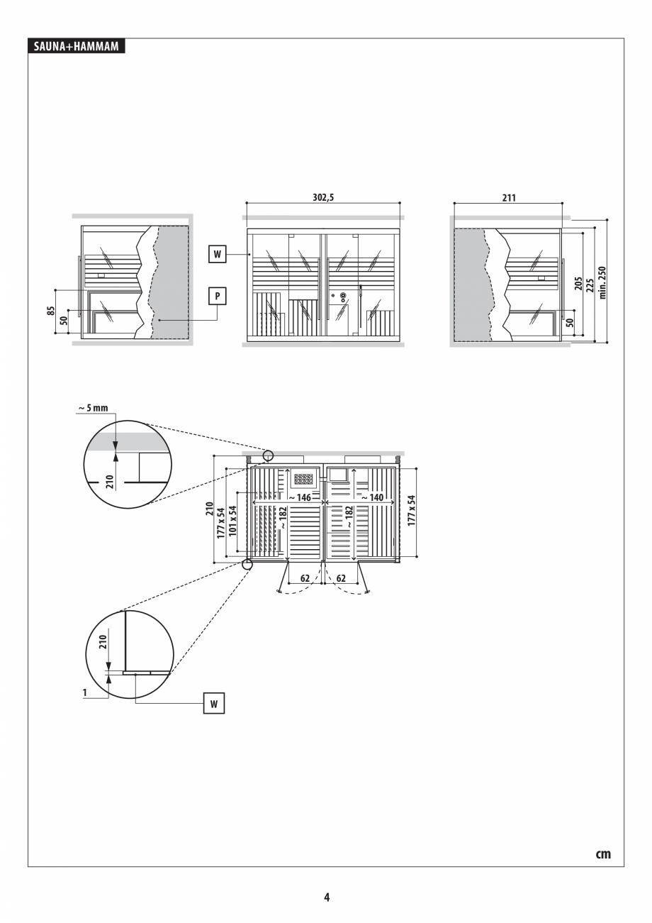 Pagina 4 - Instructiuni de preinstalare pentru sauna + hammam JACUZZI SASHA, SASHA 2.0 Instructiuni ...