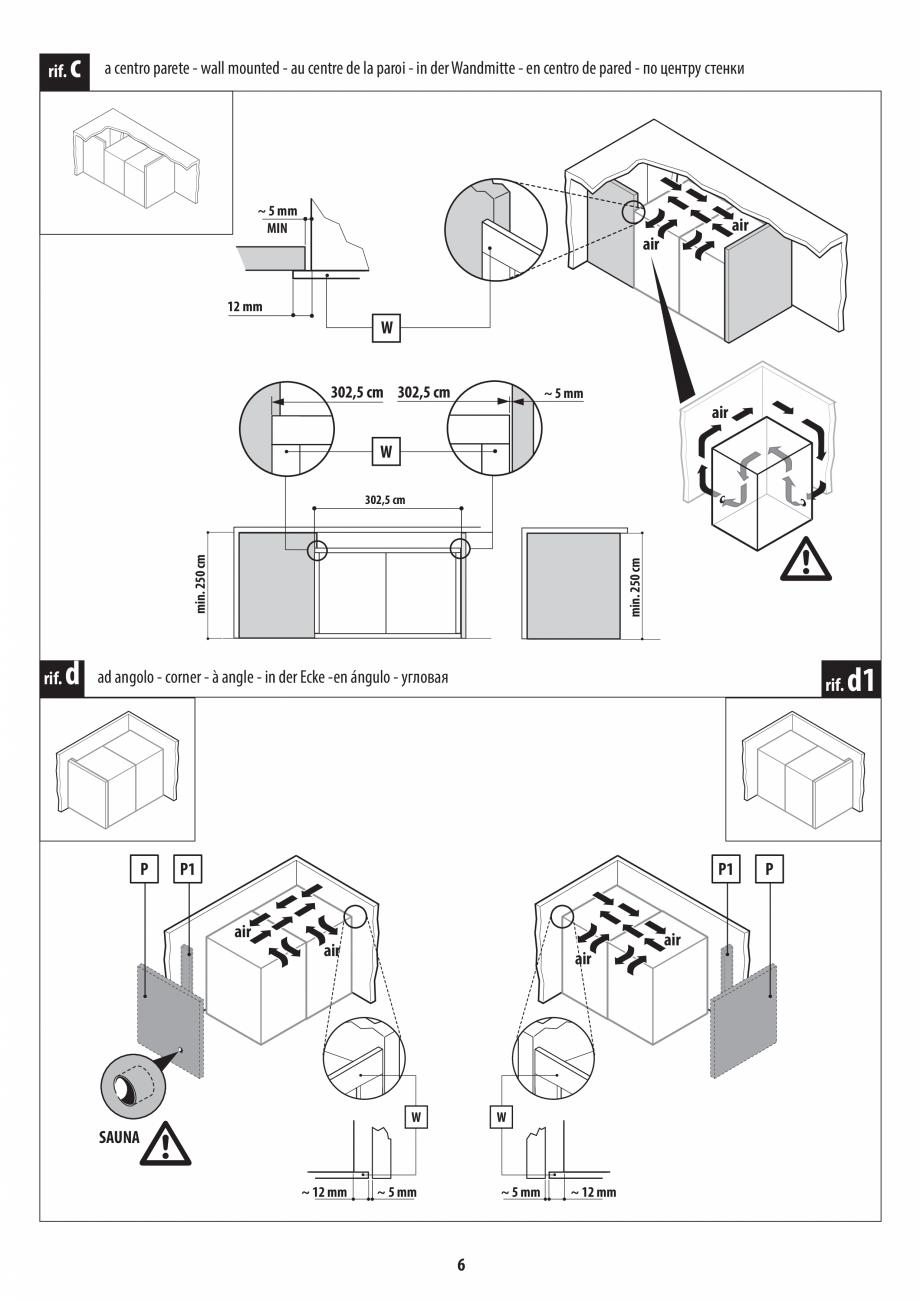 Pagina 6 - Instructiuni de preinstalare pentru sauna + hammam JACUZZI SASHA, SASHA 2.0 Instructiuni ...