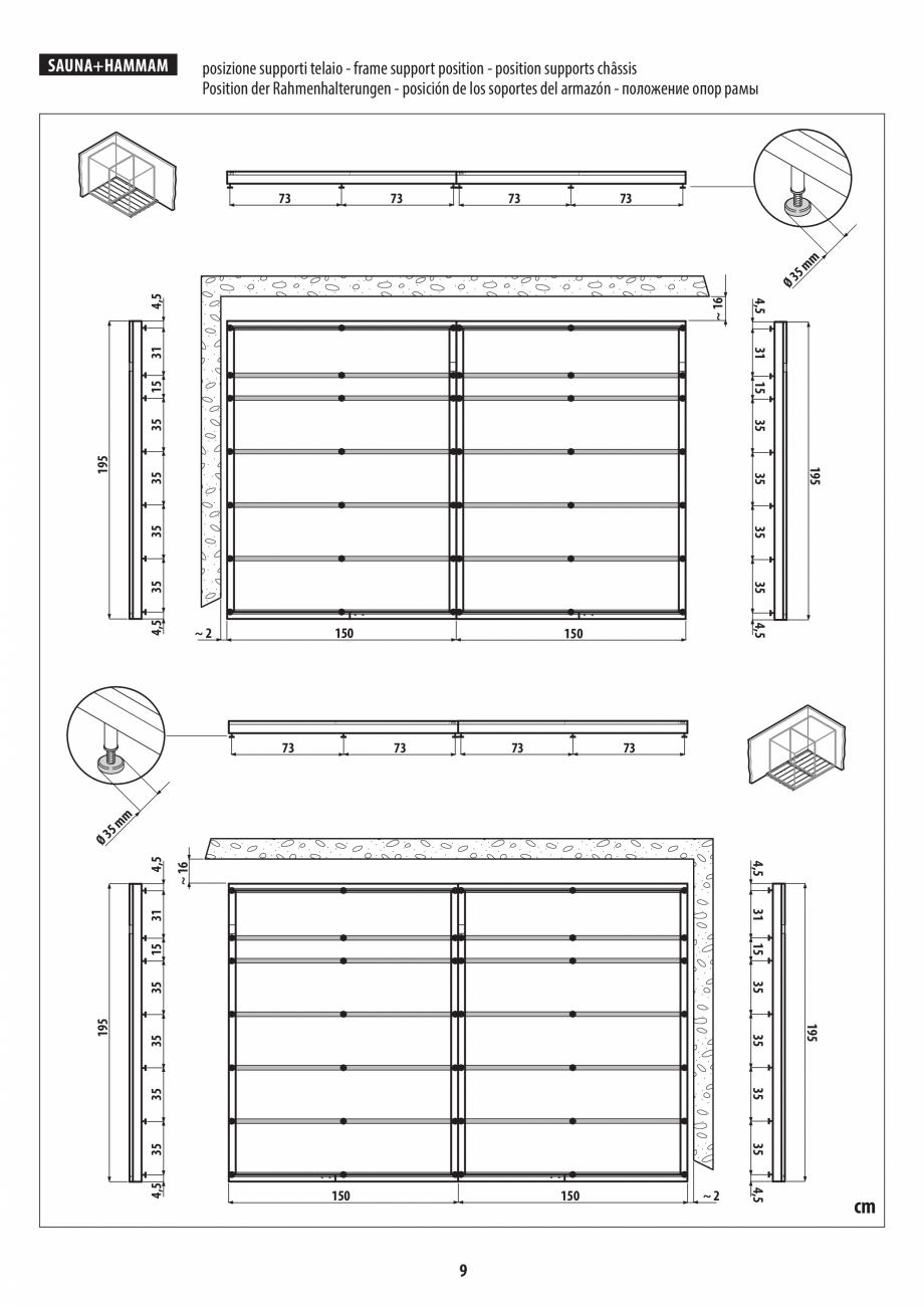 Pagina 9 - Instructiuni de preinstalare pentru sauna + hammam JACUZZI SASHA, SASHA 2.0 Instructiuni ...