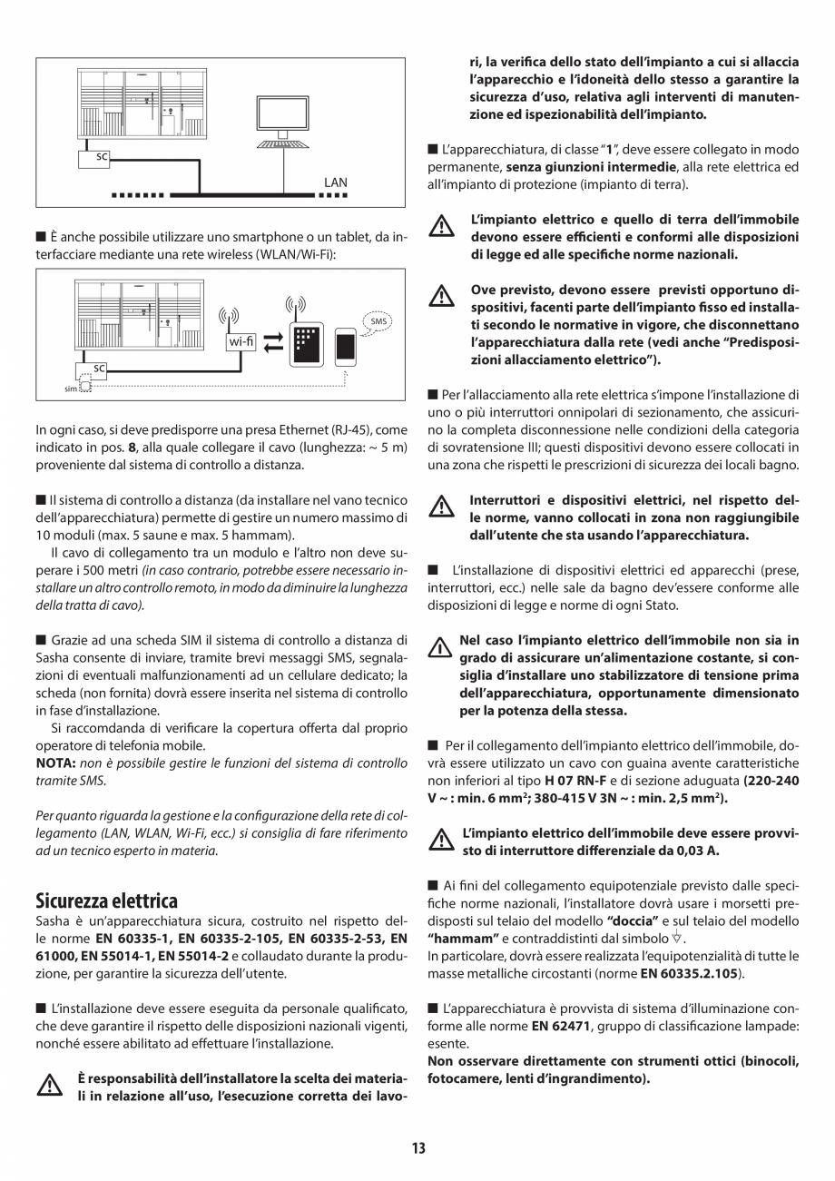 Pagina 13 - Instructiuni de preinstalare pentru sauna + hammam JACUZZI SASHA, SASHA 2.0 Instructiuni...