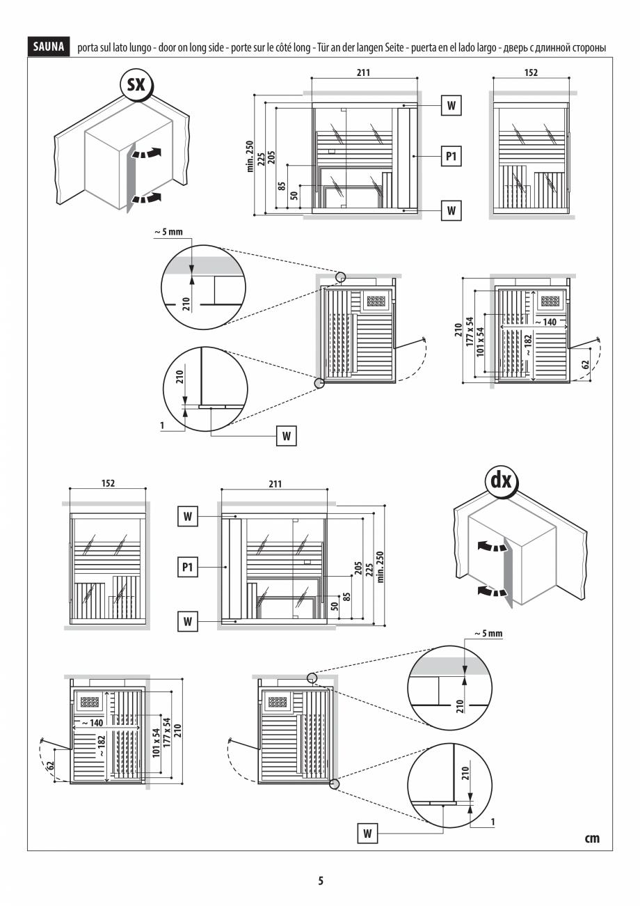Pagina 5 - Instructiuni de preinstalare pentru sauna JACUZZI SASHA, SASHA 2.0 Instructiuni montaj,...