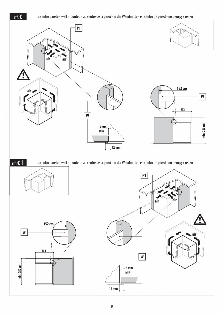 Pagina 8 - Instructiuni de preinstalare pentru sauna JACUZZI SASHA, SASHA 2.0 Instructiuni montaj,...