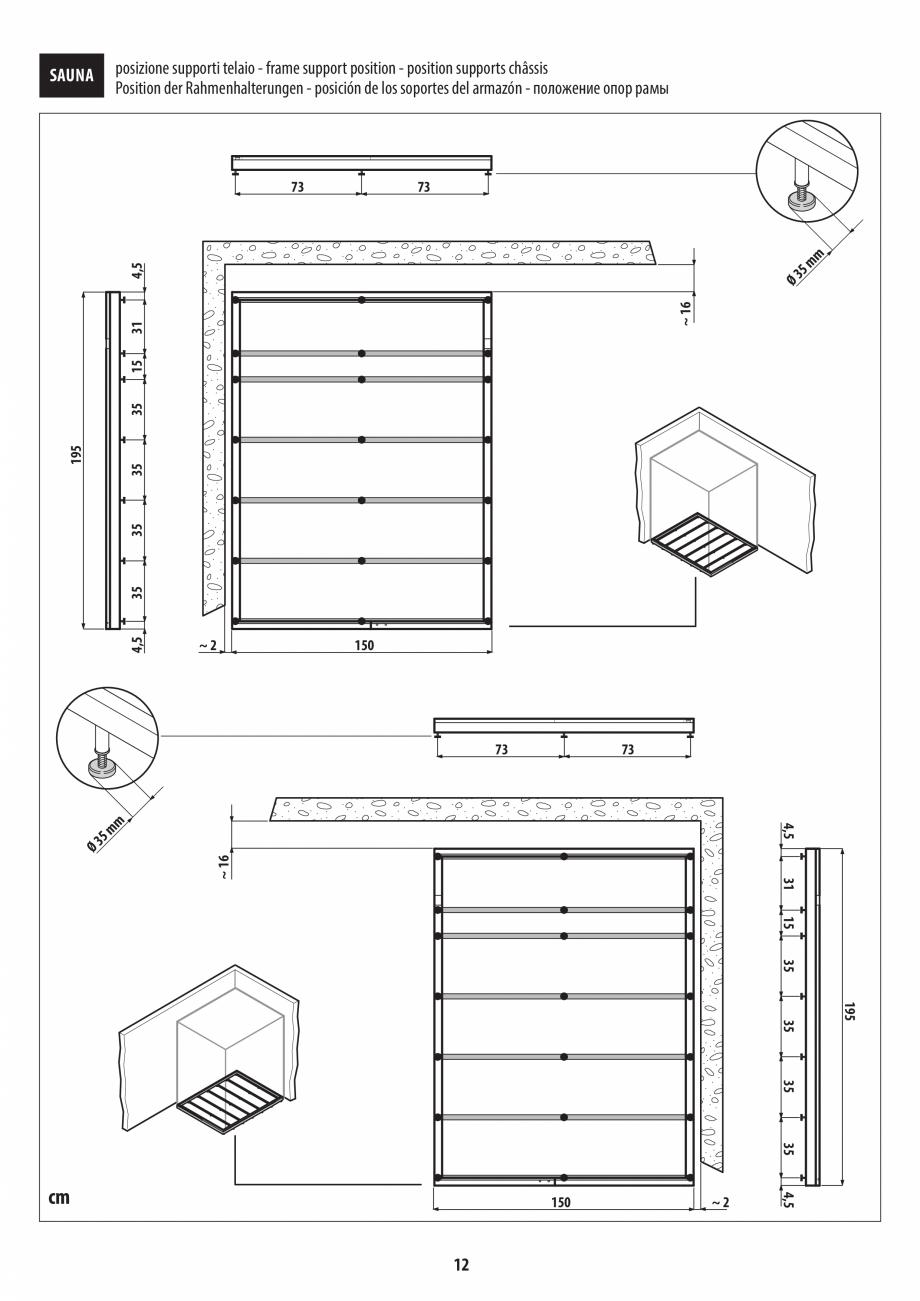 Pagina 12 - Instructiuni de preinstalare pentru sauna JACUZZI SASHA, SASHA 2.0 Instructiuni montaj, ...