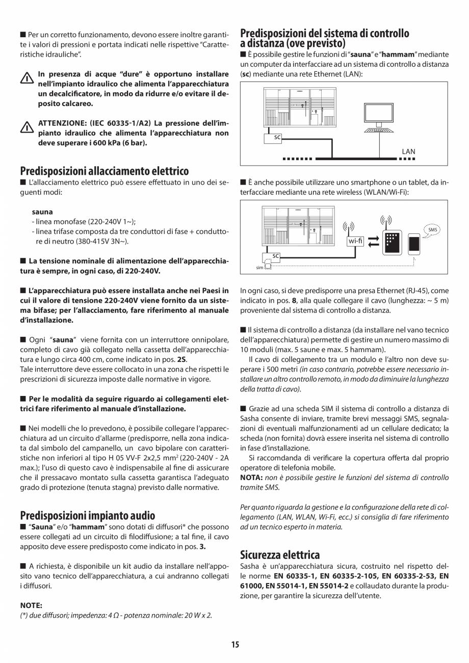 Pagina 15 - Instructiuni de preinstalare pentru sauna JACUZZI SASHA, SASHA 2.0 Instructiuni montaj, ...