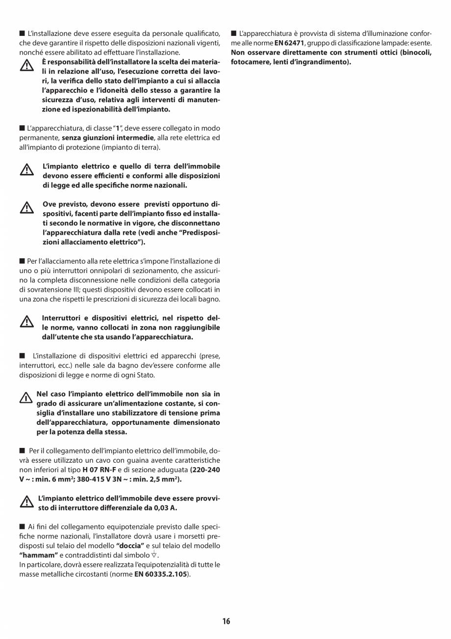 Pagina 16 - Instructiuni de preinstalare pentru sauna JACUZZI SASHA, SASHA 2.0 Instructiuni montaj, ...