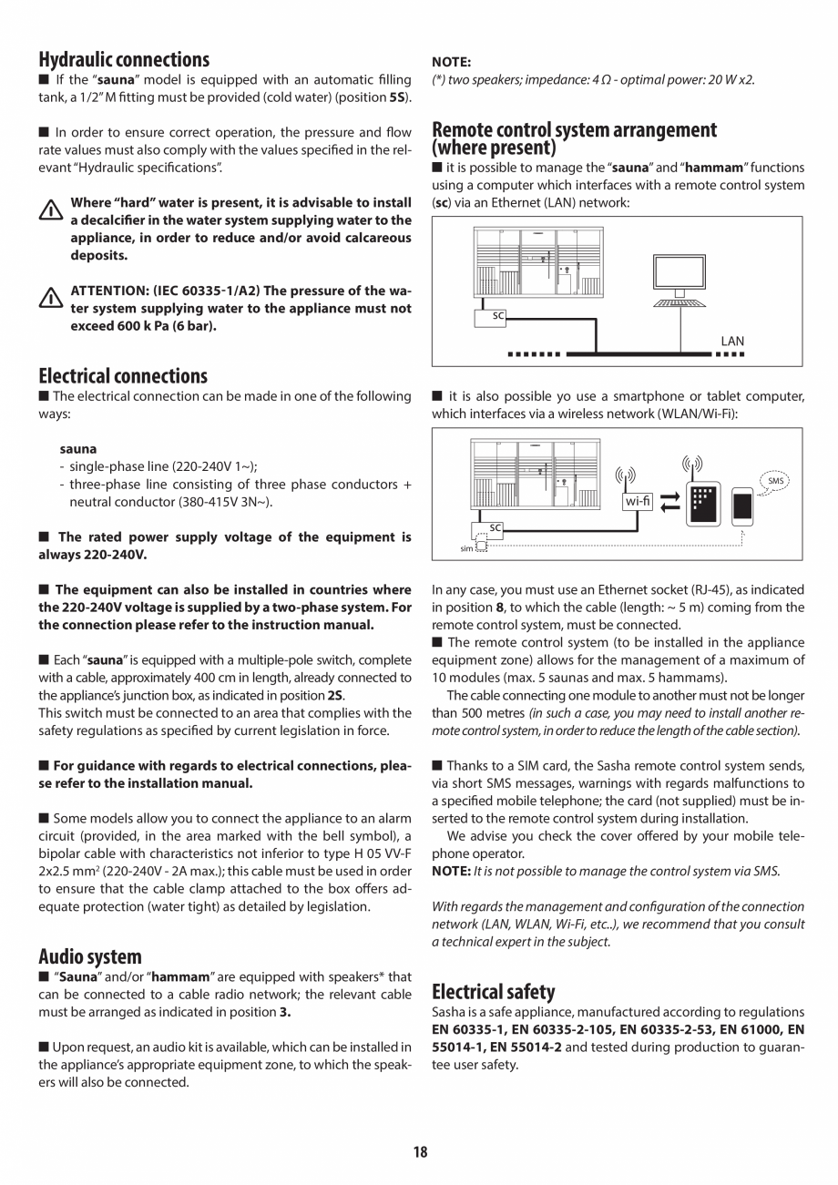 Pagina 18 - Instructiuni de preinstalare pentru sauna JACUZZI SASHA, SASHA 2.0 Instructiuni montaj, ...