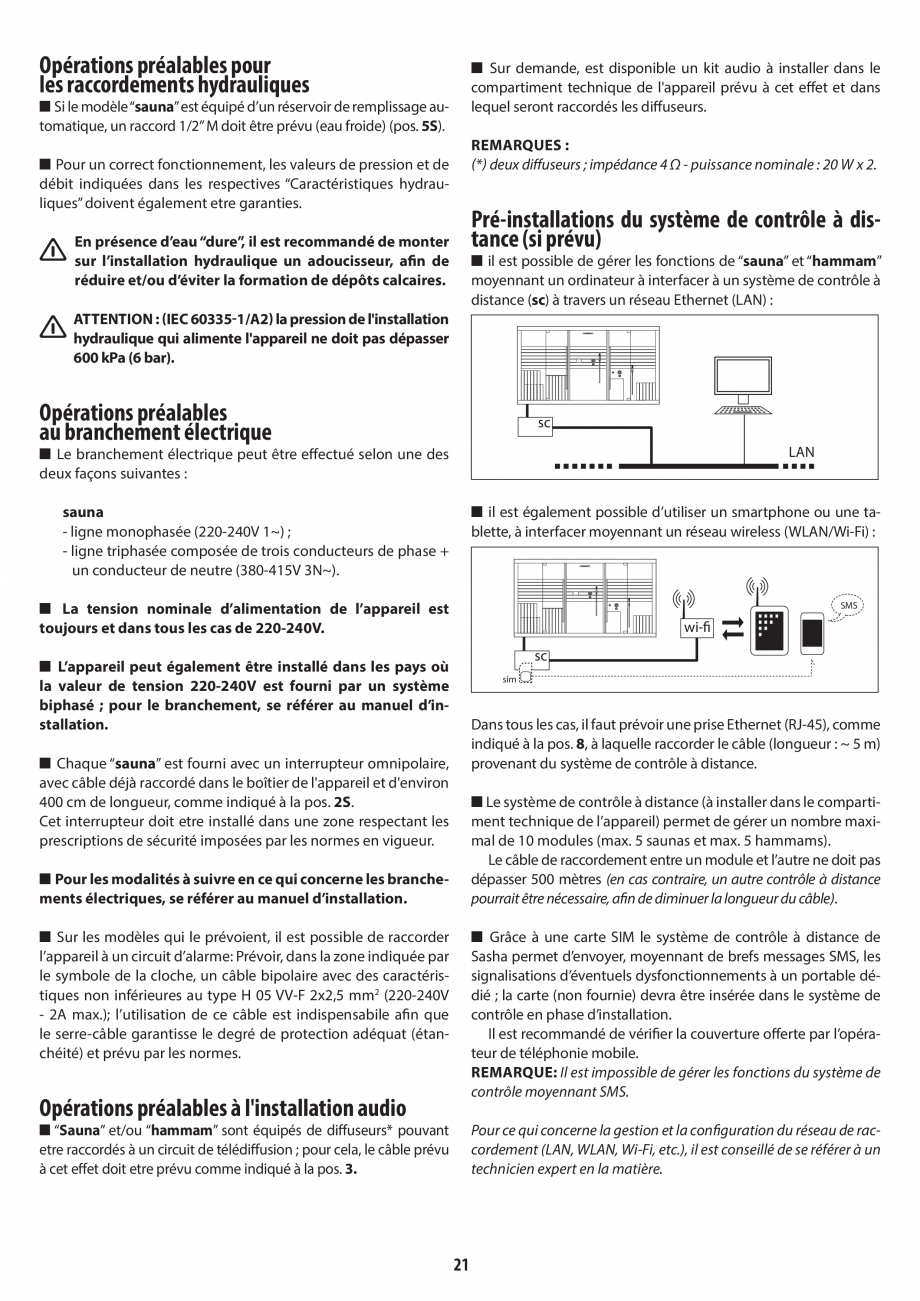 Pagina 21 - Instructiuni de preinstalare pentru sauna JACUZZI SASHA, SASHA 2.0 Instructiuni montaj, ...