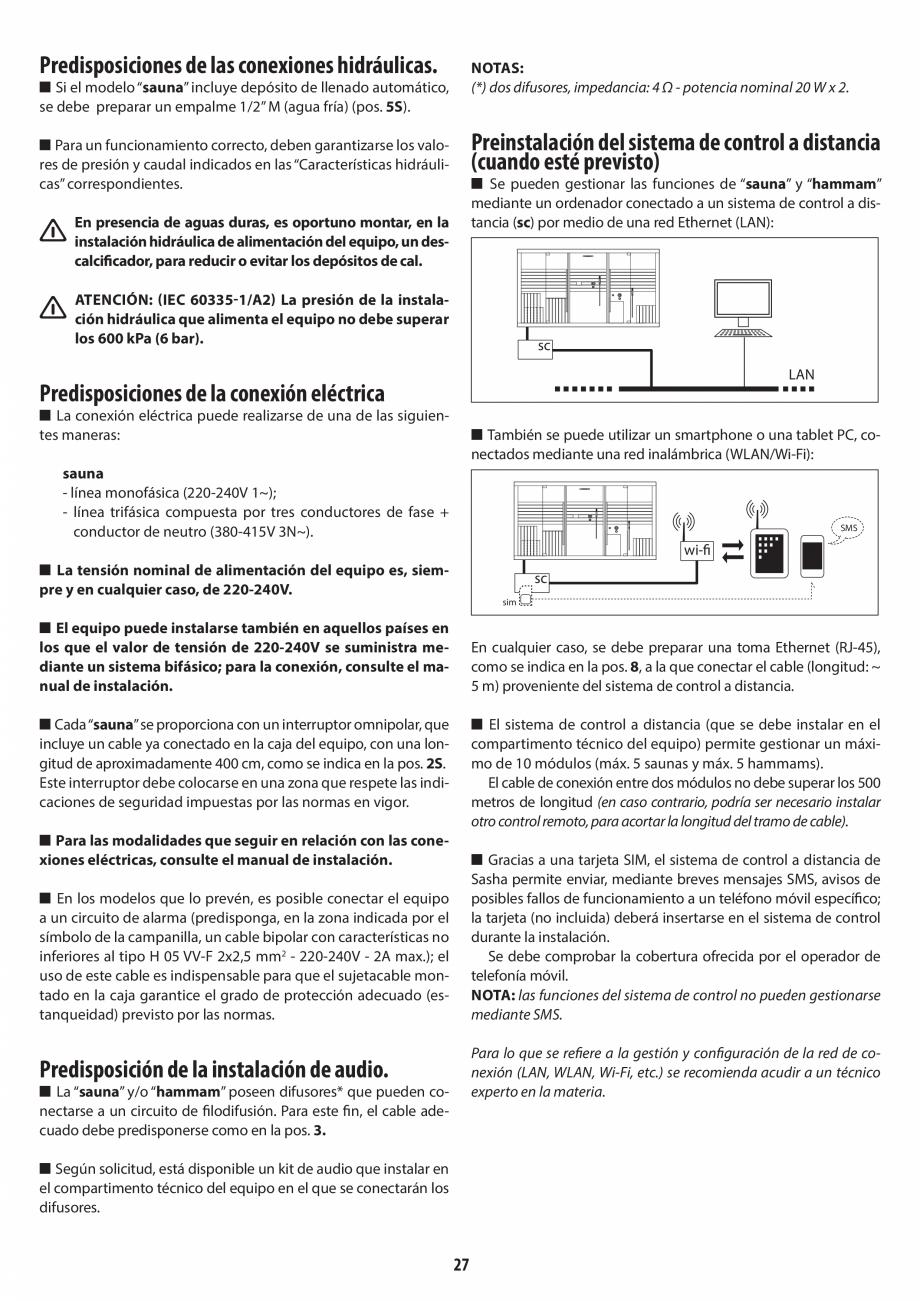 Pagina 27 - Instructiuni de preinstalare pentru sauna JACUZZI SASHA, SASHA 2.0 Instructiuni montaj, ...