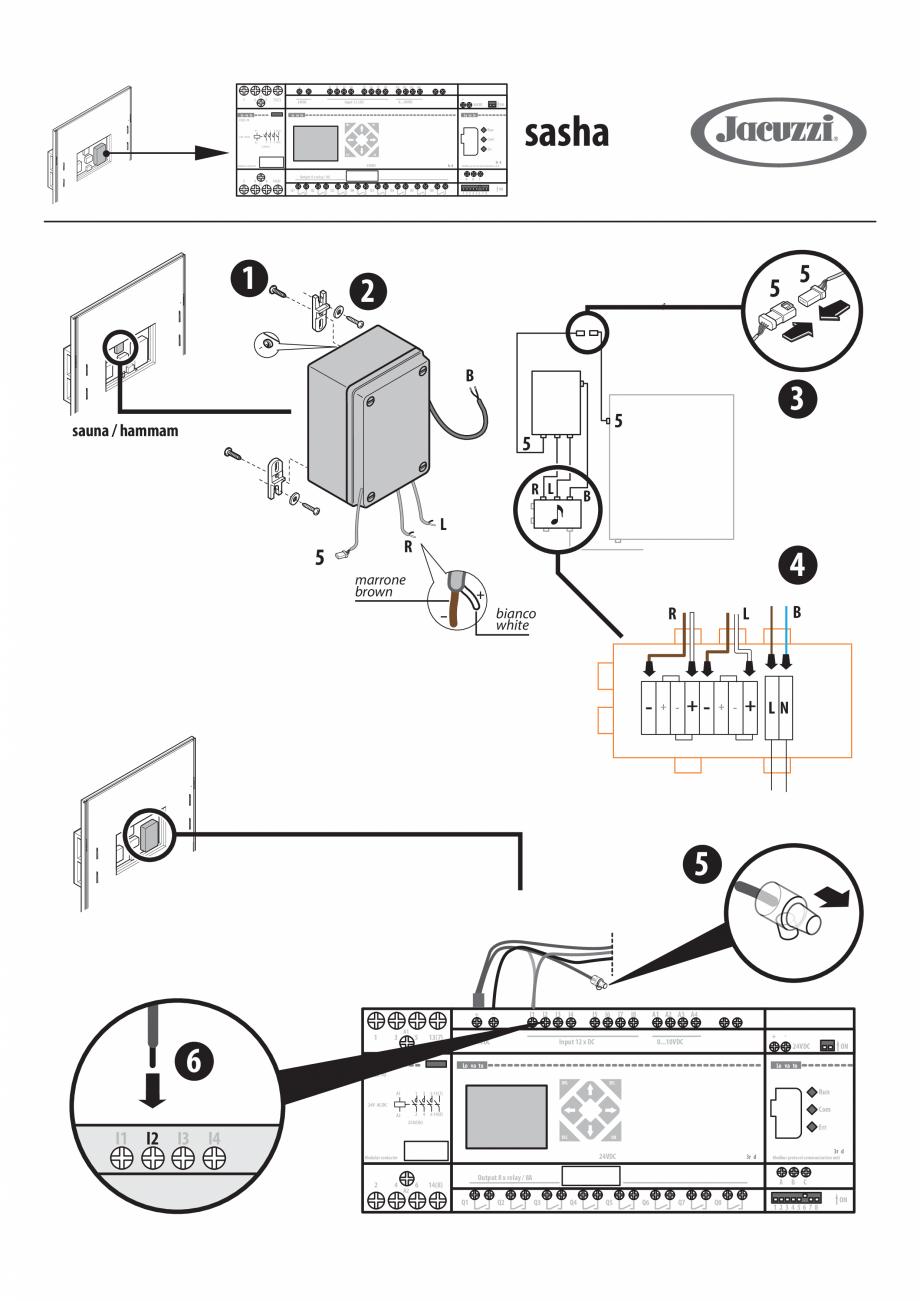Pagina 1 - Instructiuni pentru instalarea kitului audio pentru sauna JACUZZI SASHA, SASHA 2.0, SASHA...