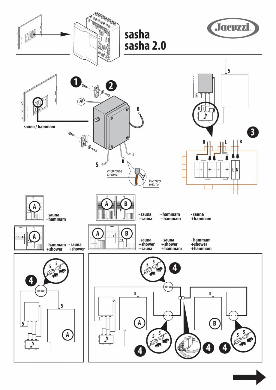 Pagina 2 - Instructiuni pentru instalarea kitului audio pentru sauna JACUZZI SASHA, SASHA 2.0, SASHA...