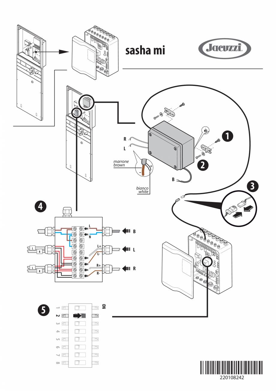 Pagina 4 - Instructiuni pentru instalarea kitului audio pentru sauna JACUZZI SASHA, SASHA 2.0, SASHA...