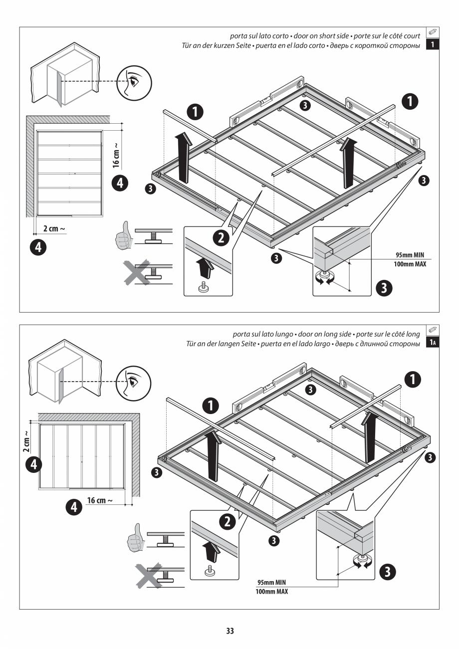 Pagina 33 - Manual de instalare pentru sauna + dus + hammam /sauna+ dus + sauna /hammam + dus +...