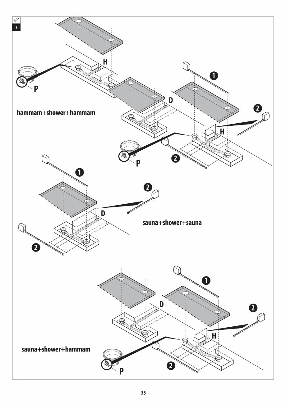 Pagina 35 - Manual de instalare pentru sauna + dus + hammam /sauna+ dus + sauna /hammam + dus +...