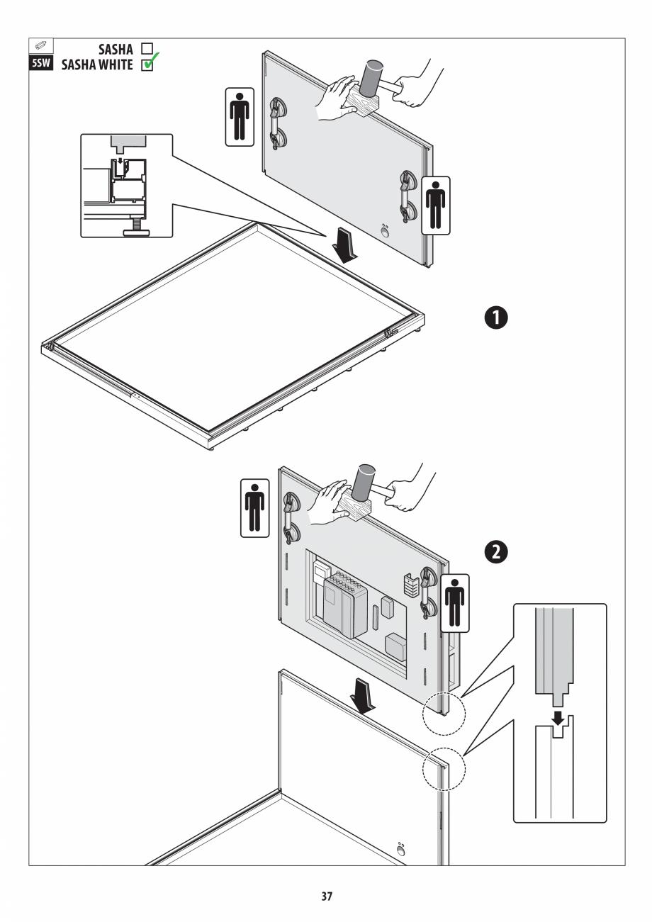 Pagina 37 - Manual de instalare pentru sauna + dus + hammam /sauna+ dus + sauna /hammam + dus +...