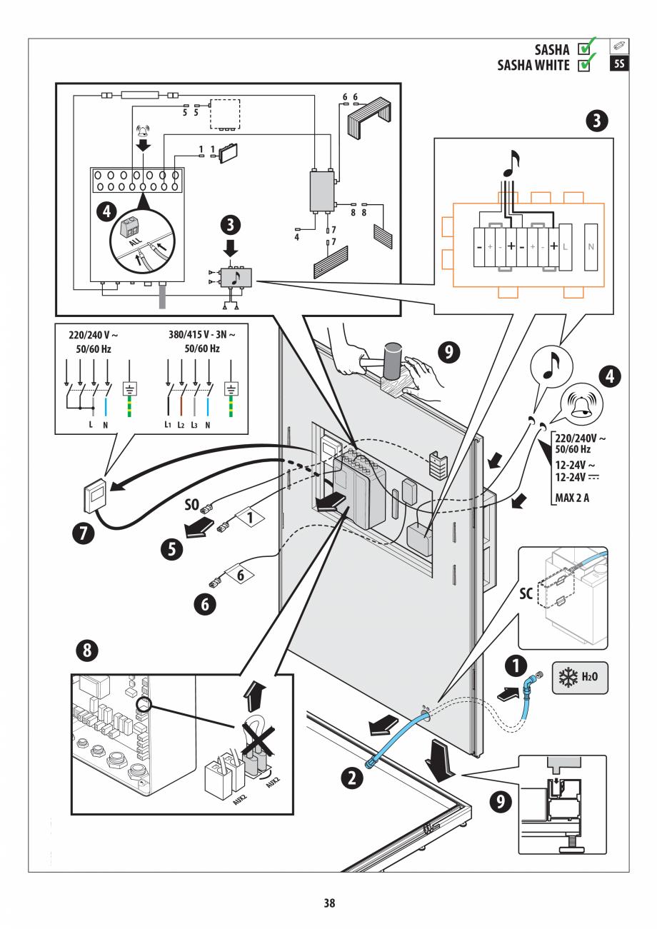 Pagina 38 - Manual de instalare pentru sauna + dus + hammam /sauna+ dus + sauna /hammam + dus +...