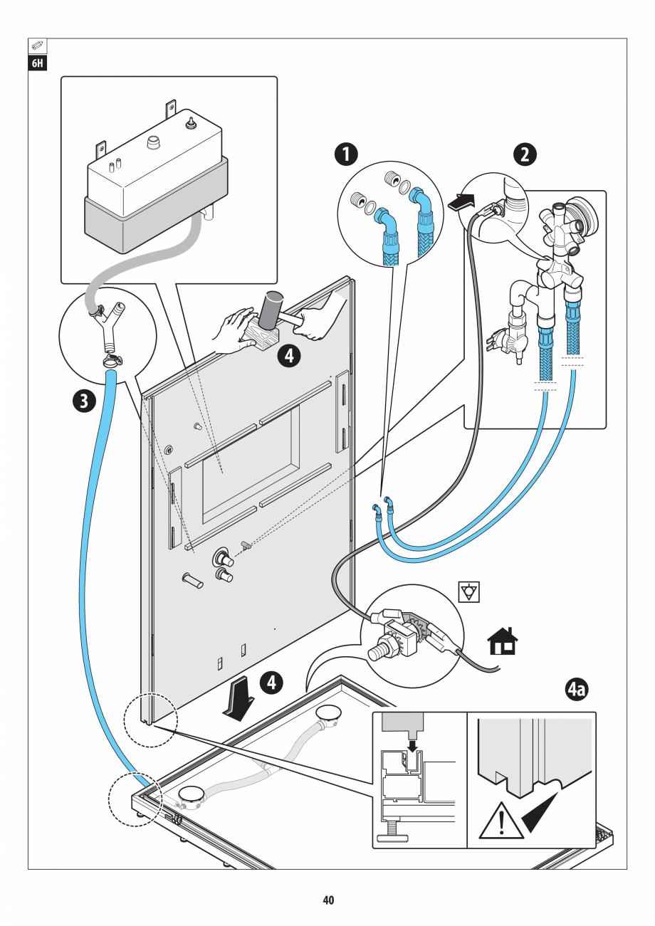 Pagina 40 - Manual de instalare pentru sauna + dus + hammam /sauna+ dus + sauna /hammam + dus +...