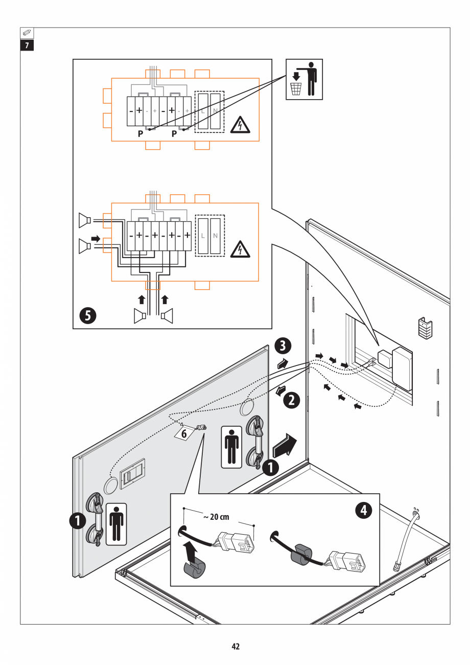 Pagina 42 - Manual de instalare pentru sauna + dus + hammam /sauna+ dus + sauna /hammam + dus +...