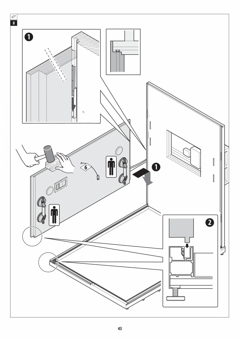 Pagina 43 - Manual de instalare pentru sauna + dus + hammam /sauna+ dus + sauna /hammam + dus +...