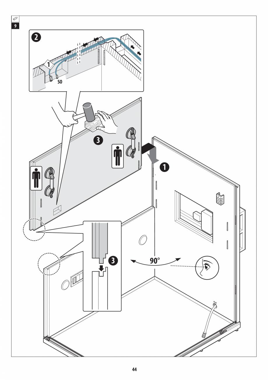 Pagina 44 - Manual de instalare pentru sauna + dus + hammam /sauna+ dus + sauna /hammam + dus +...