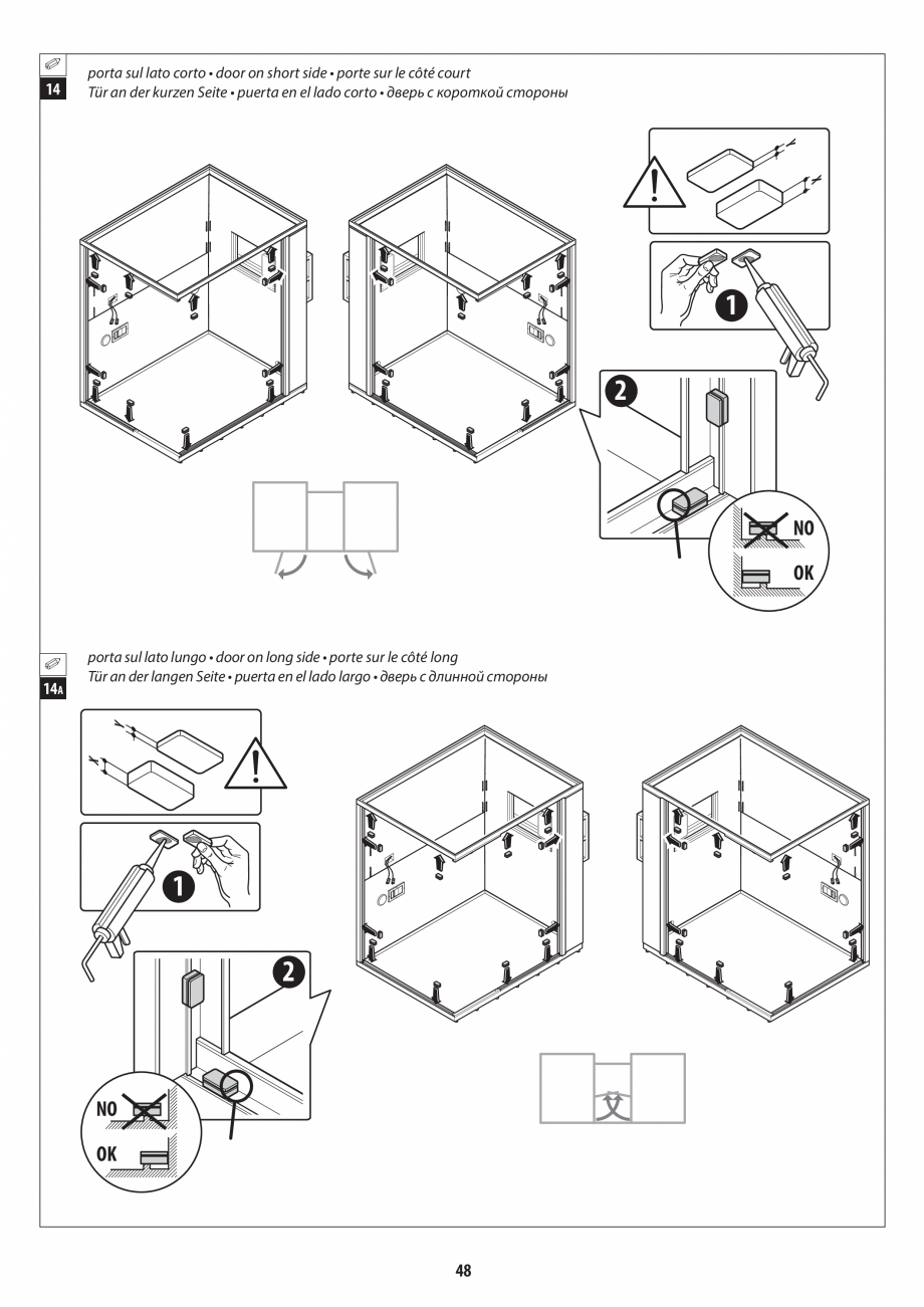 Pagina 48 - Manual de instalare pentru sauna + dus + hammam /sauna+ dus + sauna /hammam + dus +...