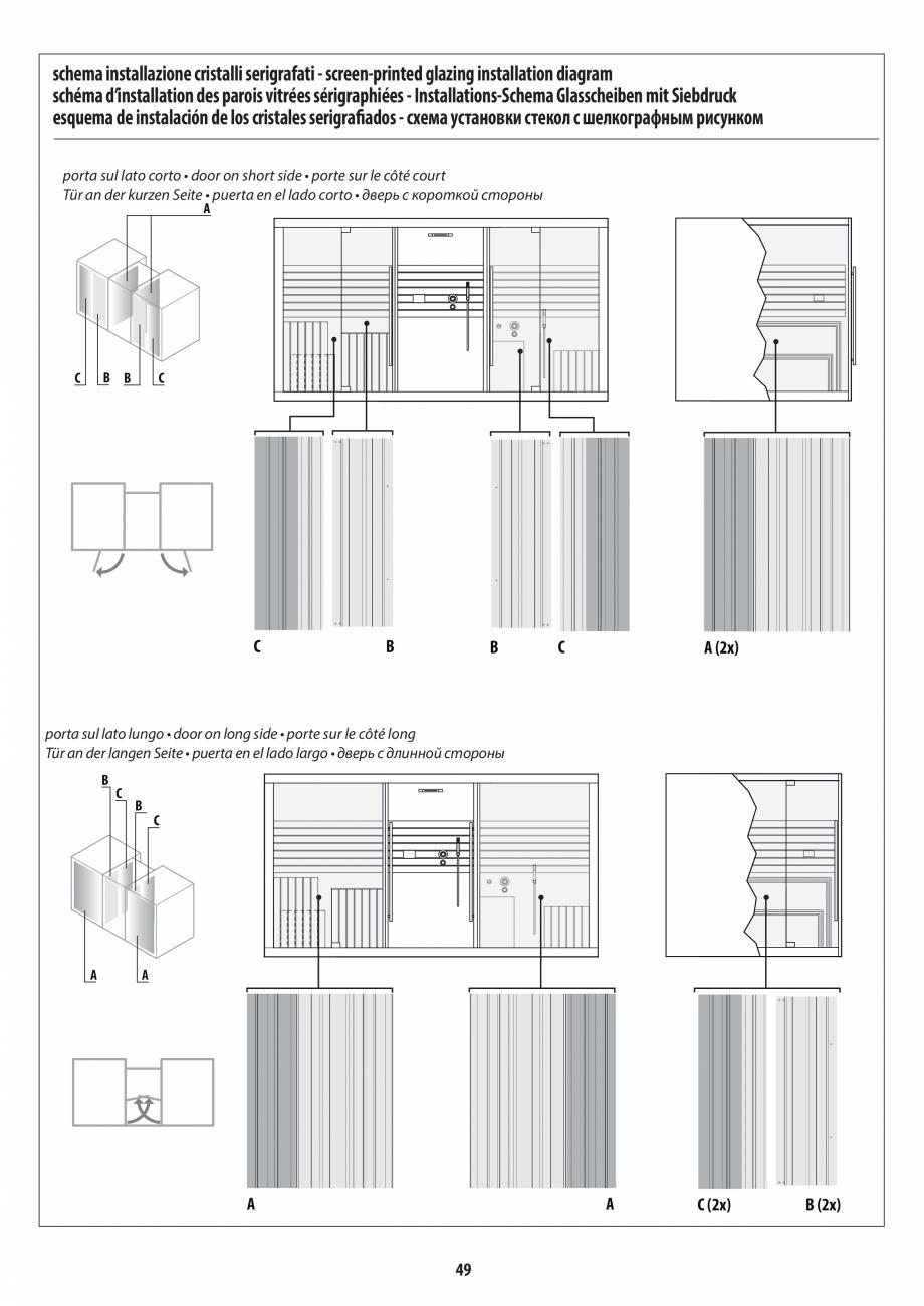 Pagina 49 - Manual de instalare pentru sauna + dus + hammam /sauna+ dus + sauna /hammam + dus +...